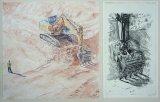 2013 aquarelle et gravure 60 40 cm