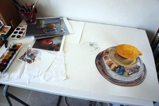 Aquarelle artiste peintre Salducci