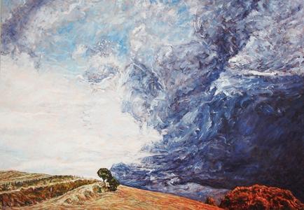 peinture paysage pays basque