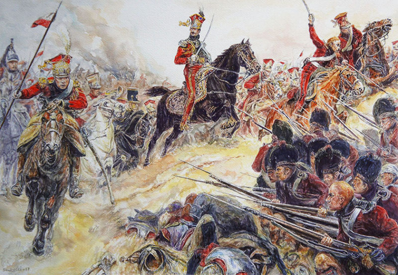 Aquarelle Napoléon Waterloo
