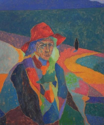 1988 Huile sur toile 65 54cm