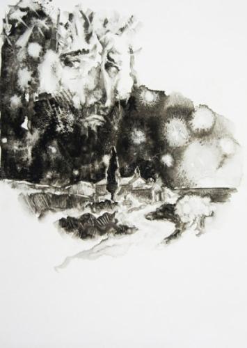 1988 huile sur papier