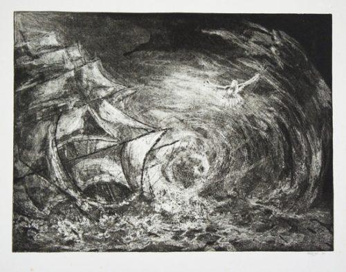 1989 gravure 45 35cm