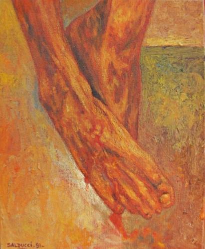 1991 Huile sur toile 27 22cm