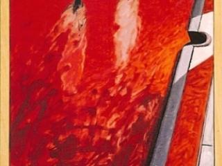 1991 Huile sur toile 60 30cm