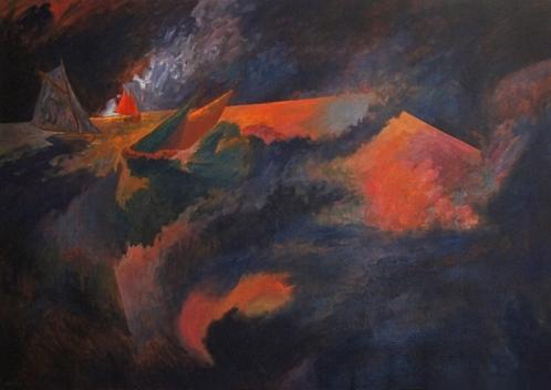 1992 Huile sur toile 116 81cm