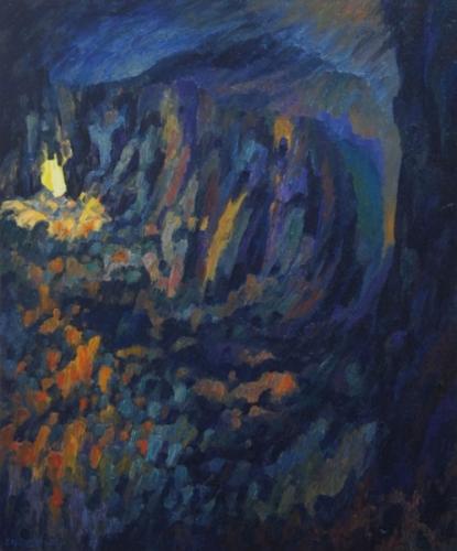 1992 Huile sur toile 65 54 cm