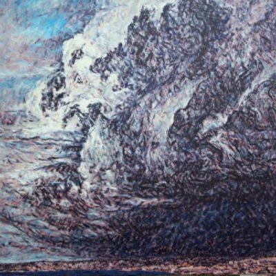 1996 Huile sur toile 80 80cm