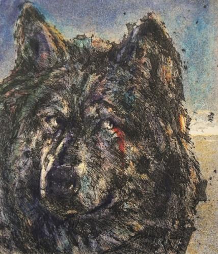 1998 Gravure,aquarelle