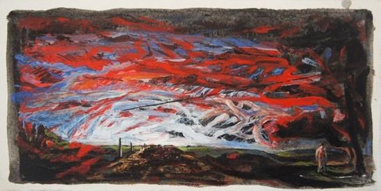 2001 Acrylique sur papier