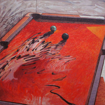 Peinture table de billard Patrick Salducci