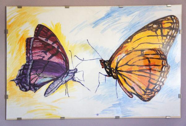 Peinture papillons Patrick Salducci