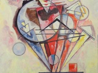 2012 Huile sur toile 90 90cm copie Kandinsky