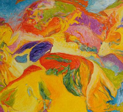 peinture acrylique non figurative Patrick salducci