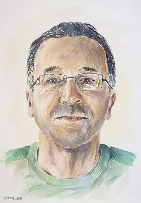 Portrait aquarelle Salducci Patrick